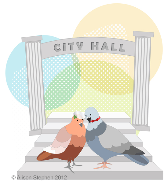 Pigeons at City Hall